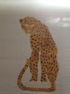 Peinture sur soie - La panthère (1)