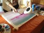 Peinture sur soie - Démonstration