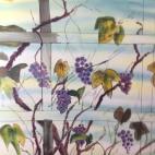 Aquarelle sur soie - Vignes (2)