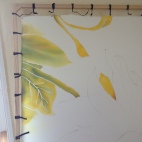 Aquarelle sur soie - Tournesol photo (2)
